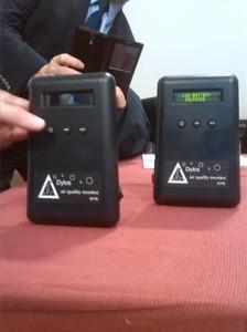 Dispositivos para medir la contaminación ambiental provocada por el humo de tabaco